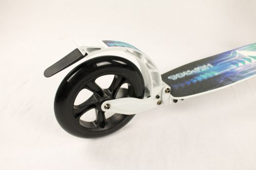 Hepros XXXL BigWheel Fully Patinete 200mm Scooter plegable blanco