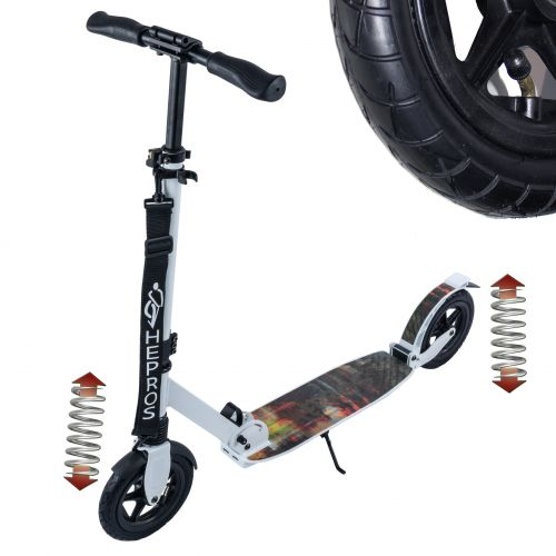 Hepros XXXL Air Fully Trotinette 200mm Scooter blanc