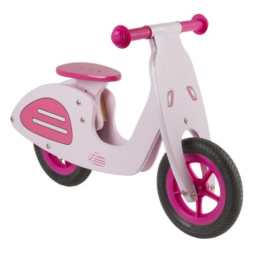 Children's wooden learning balance bike classic Italian scooter Design