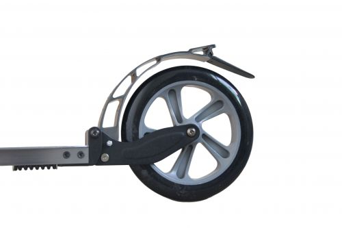 Hepros XXXL PU-Wheel Fully Monopattino 200mm Scooter pieghevole argento minerale