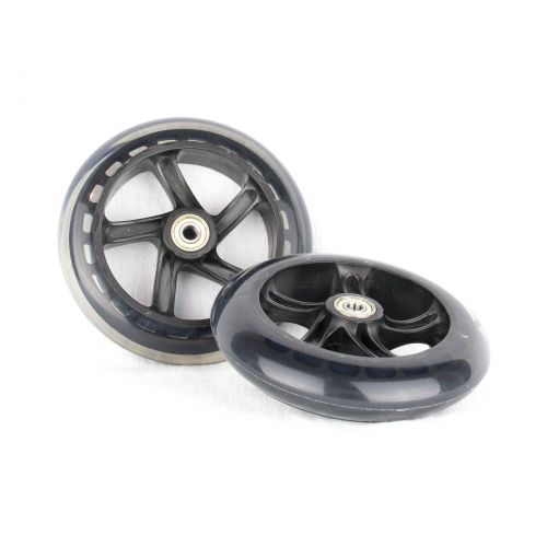 PU 145mm Spare Wheels for Scooter black transparent - 2 pieces
