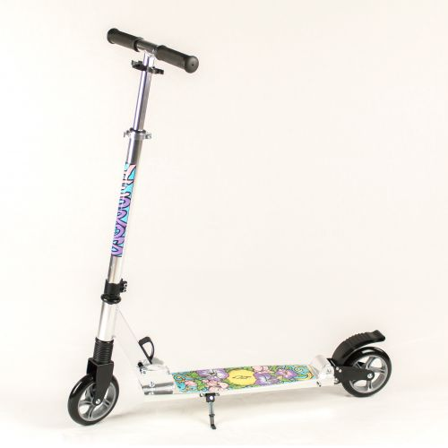 Hepros XXL BigWheel Fully Patinete 145mm Scooter plegable Silver