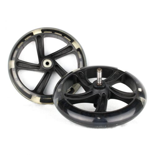 PU 200mm Spare Wheels for seesaws propulsion  Space Scooter black transparent