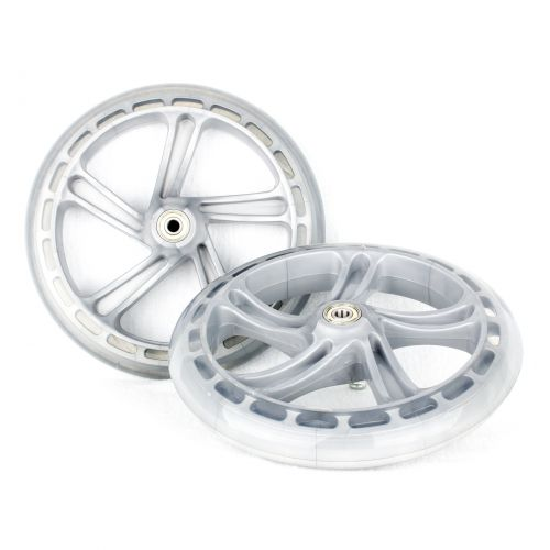 PU 200mm Spare Wheels for Scooter silver - 2 pieces