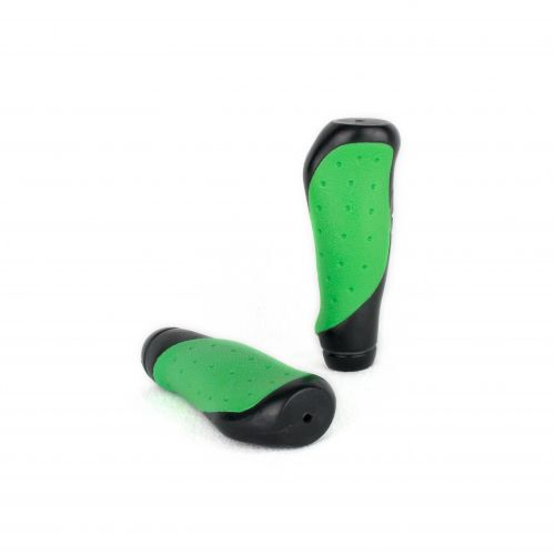 Ergonomically shaped handles for Scooter - 1 pair black/green