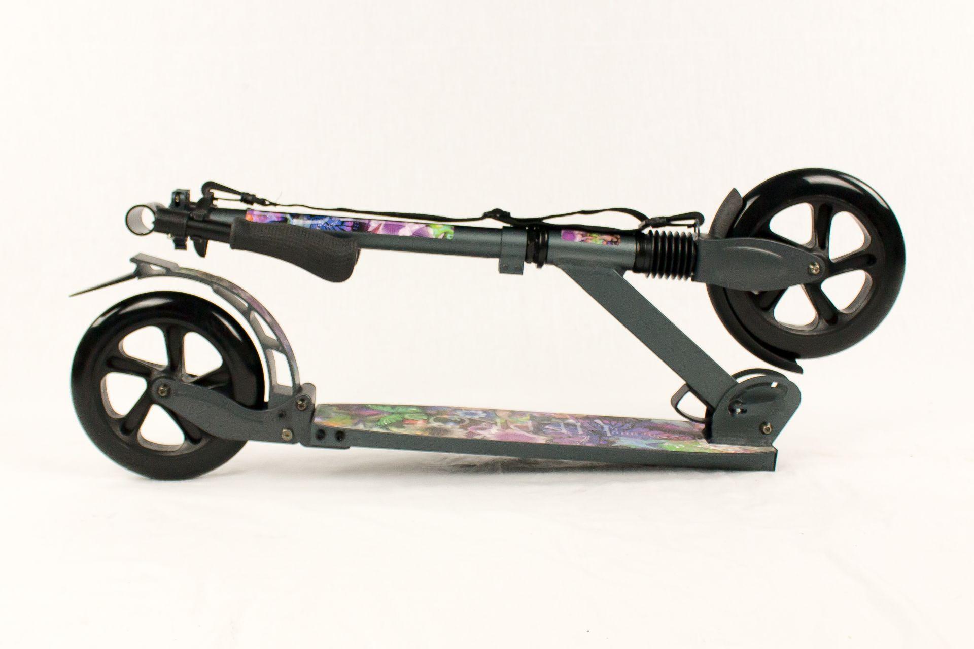 hepros xxxl bigwheel fully scooter 200mm cityroller anthrazit. Black Bedroom Furniture Sets. Home Design Ideas