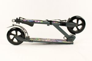 Hepros XXXL BigWheel Fully Monopattino 200mm Scooter pieghevole antracite
