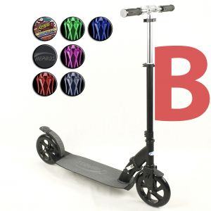 Hepros XXXL Ultra Monopattino 200mm Scooter black b-stock