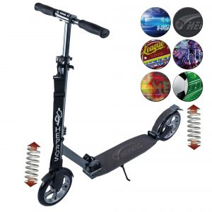 Hepros XXXL PU-Wheel Fully Step 200mm opvouwbare Scooter mineraal zilver