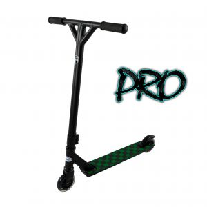 Hepros Freestyle Stunt Scooter Wild - PRO | Checkeres Green