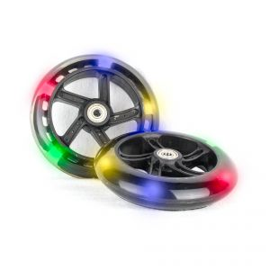 PU 145mm luminous wheels Spare Wheels for Scooter 5 LED - 2 pieces
