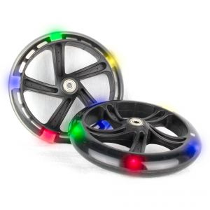 PU 200mm luminous wheels Spare Wheels for Scooter 5 LED - 2 pieces