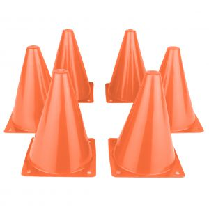 Hepros pylons medium 6 pieces orange traffic cones cones
