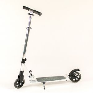 Hepros XXL Flash Fully Trotinette 145mm Roues Lumière Scooter Silver