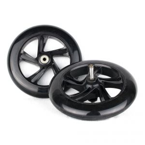 PU 200mm Spare Wheels High Rebound for seesaws propulsion  Space Scooter black