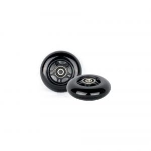 PU 80mm 2 spare wheels Inliner Skate Waveboard black ABEC 9 bearings