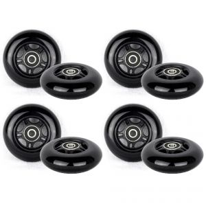 PU 79mm Spare Wheels for Inliner black - 8 pieces