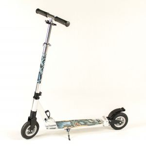 Hepros XXL Air Fully Scooter 150mm PR Pneumatic Wheels Silver