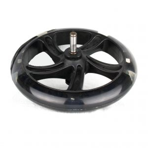 PU 200mm Rear Wheel with axis for seesaws propulsion  Space Scooter black transparen